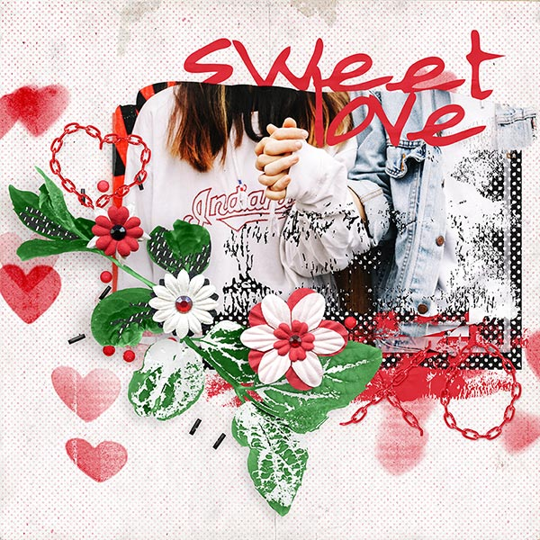 """'Only You' #digiscrap layout by AFT Designs - Amanda Fraijo-Tobin using """"Sweet Love"""" Papers & Embellishments #aftdesigns #scrapbook"""