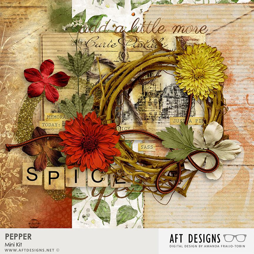 Pepper #digitalscrapbooking Mini Kit by AFT Designs - Amanda Fraijo-Tobin @Oscraps.com