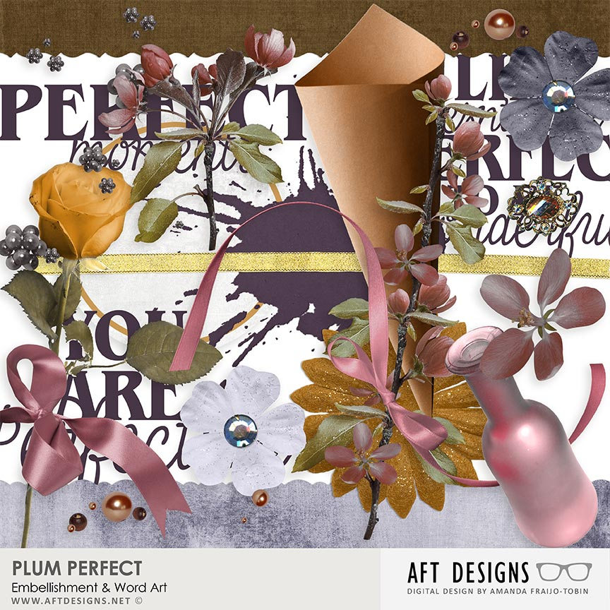 Plum Perfect Mini Kit by AFT Designs - Amanda Fraijo-Tobin @Oscraps.com