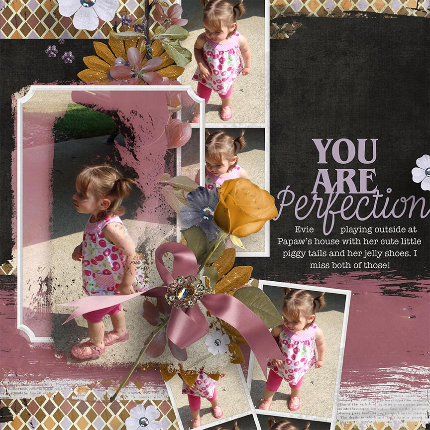 'You Are Perfection' #digitalscrapbooking layout by AFT Designs - Amanda Fraijo-Tobin