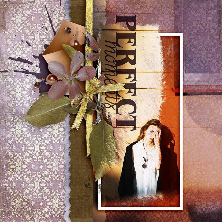 'Perfect Moments' #digitalscrapbooking layout by AFT Designs - Amanda Fraijo-Tobin