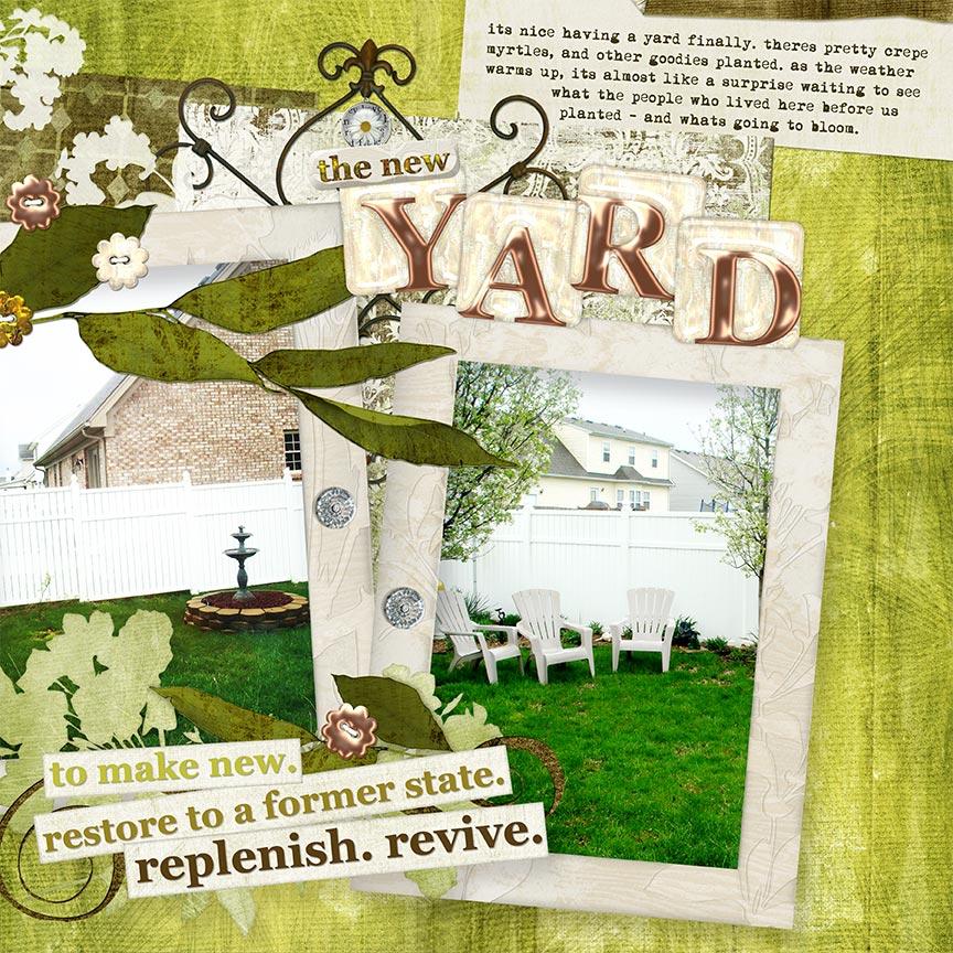 """The New Yard"" #digitalscrapbooking layout by AFT Designs - Amanda Fraijo-Tobin @Oscraps.com"