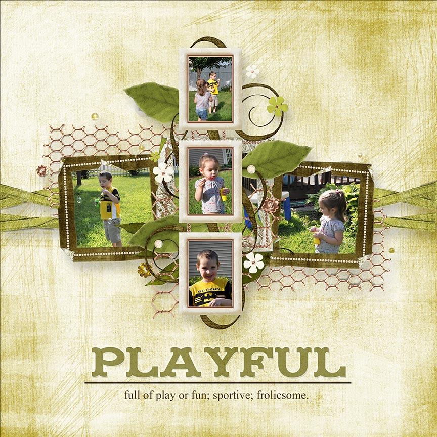 """Playful"" #digitalscrapbooking layout by AFT Designs - Amanda Fraijo-Tobin @Oscraps.com"