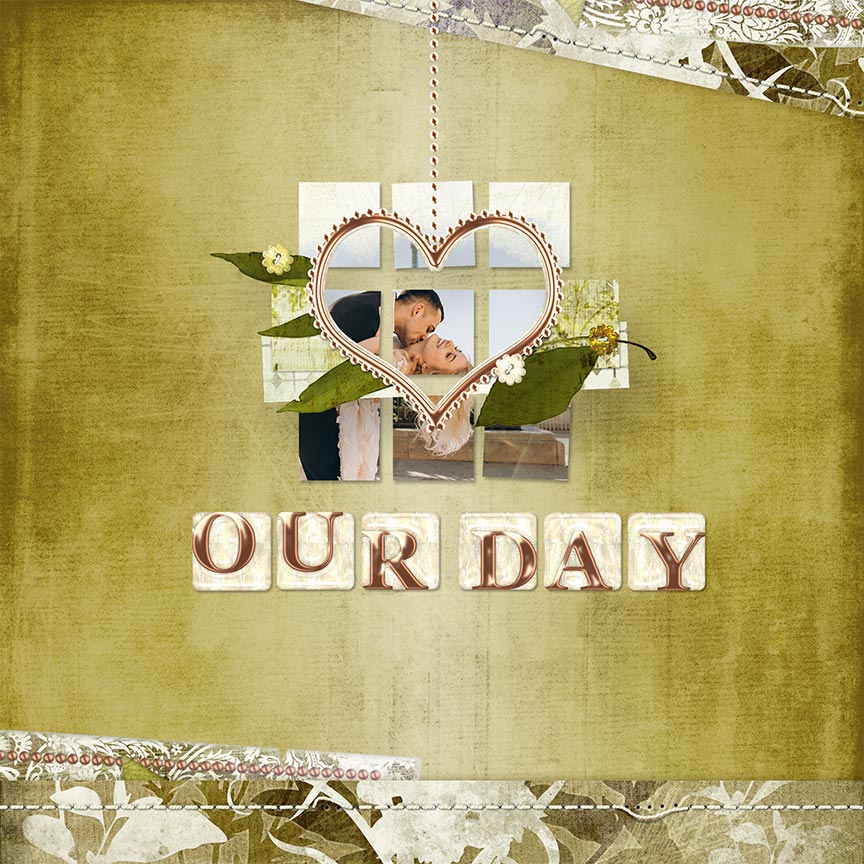 """Our Day"" #digitalscrapbooking layout by AFT Designs - Amanda Fraijo-Tobin @Oscraps.com"
