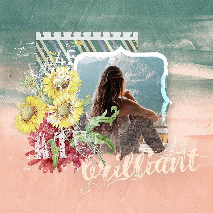 "#digitalscrapbooking layout ""Brilliant"" by AFT Designs Amanda Fraijo-Tobin @Oscraps.com using Refreshmint Paper - Paint"