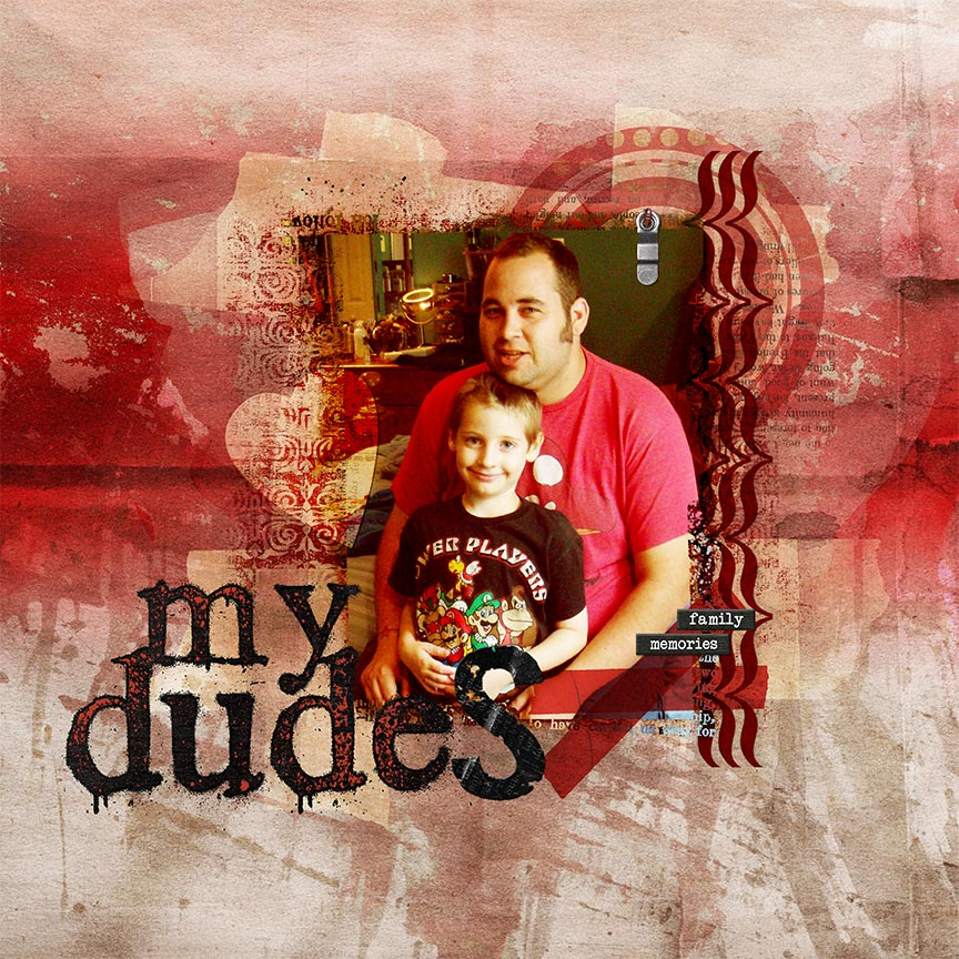 "Digital Scrapbooking Layout ""My Dudes"" by AFT Designs - Amanda Fraijo-Tobin @Oscraps.com #digiscrap #projectlife #digitalscrapbooking"