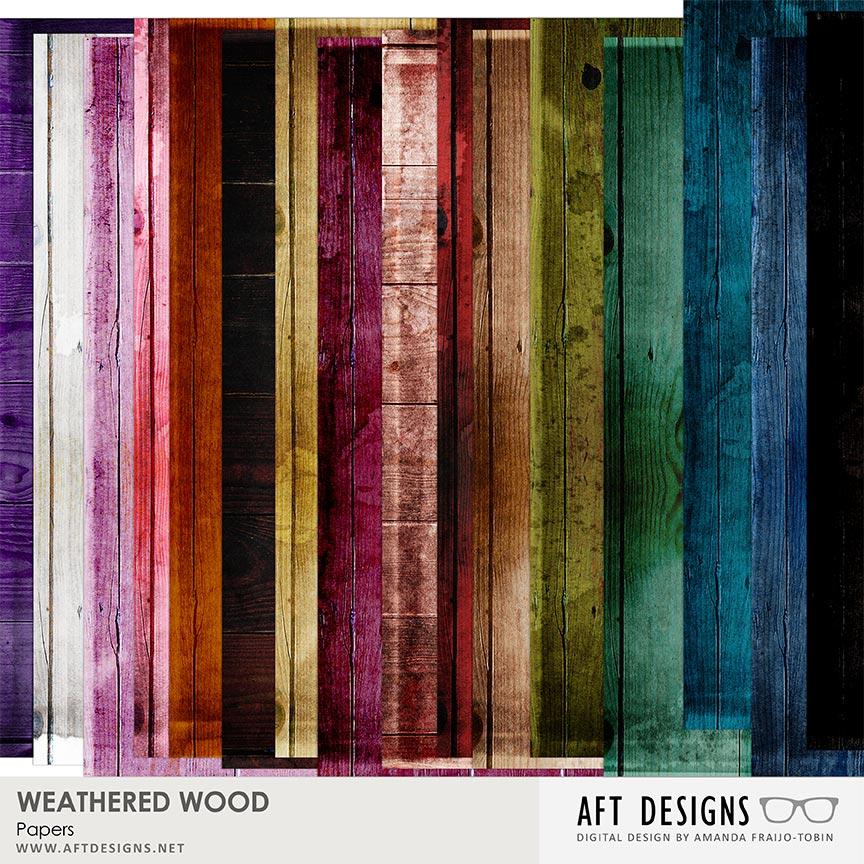 Weathered Wood Paper by AFT Designs - Amanda Fraijo-Tobin @Oscraps.com