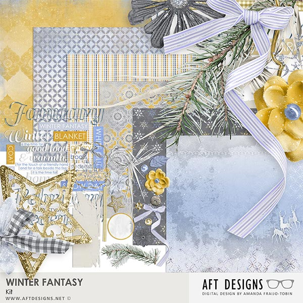 Winter Fantasy Kit by AFT Designs - Amanda Fraijo-Tobin @Oscraps.com | #oscraps #printables