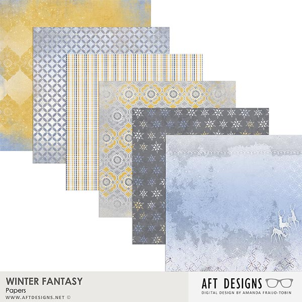Winter Fantasy Papers by AFT Designs