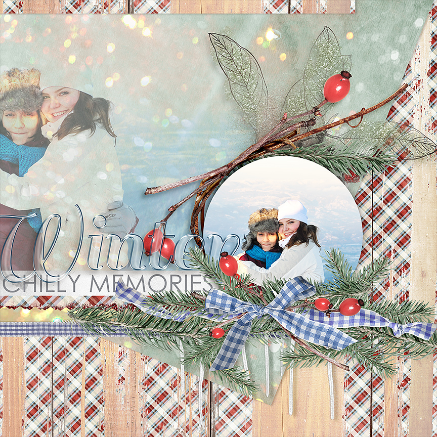 Layout by AFT designs using Bundle: Winter Timber