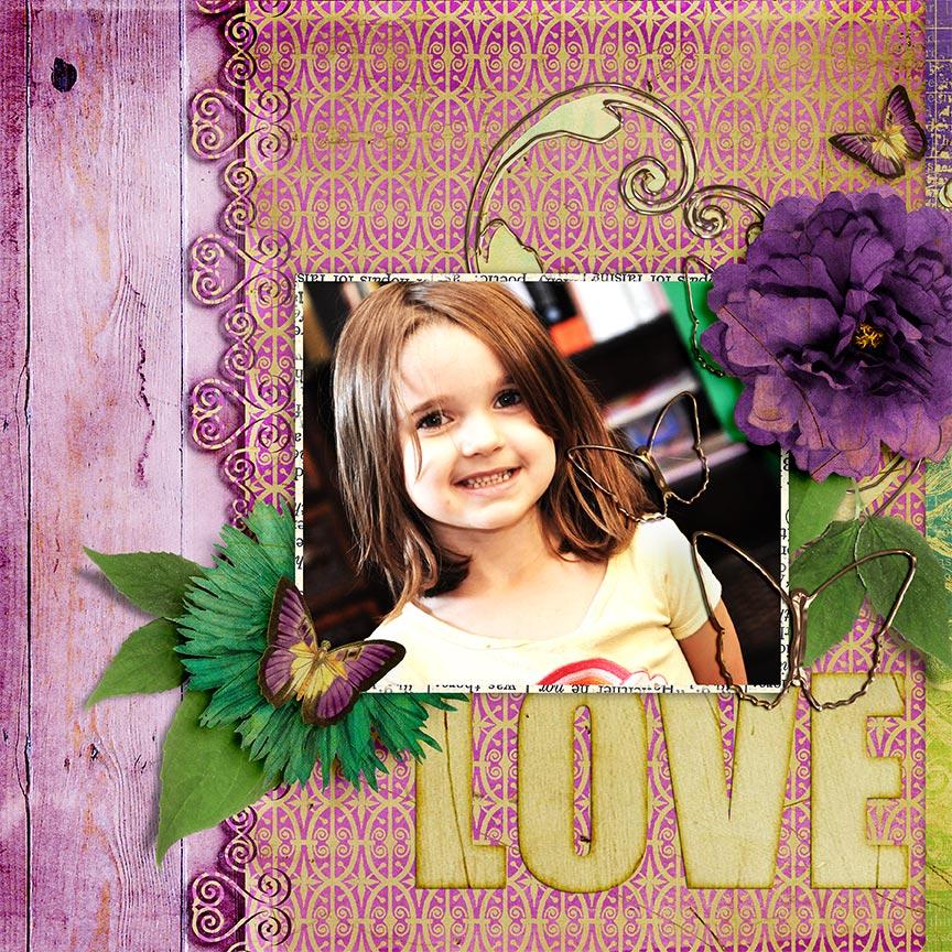 """Love"" #digitalscrapbooking layout by AFT Designs - Amanda Fraijo-Tobin"