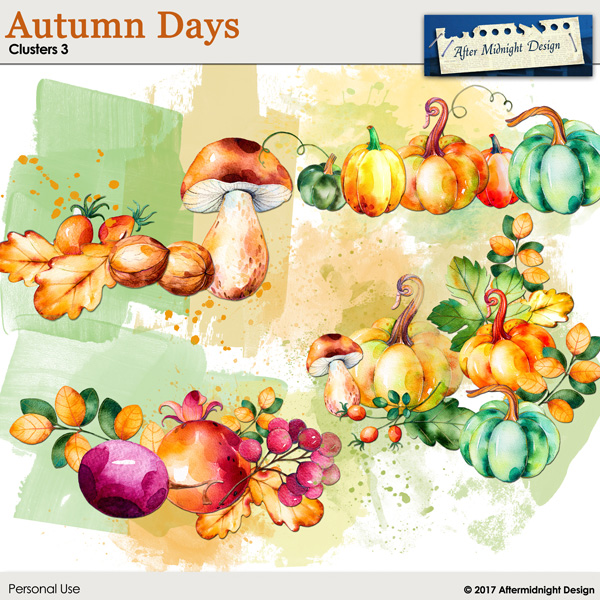 Autumn Days Clusters 3 by Aftermidnight Design