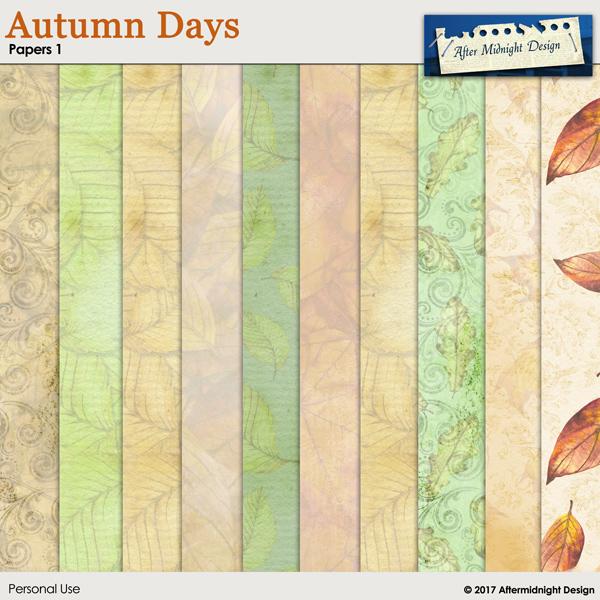 Autumn Days Paper 1 by Aftermidnight Design