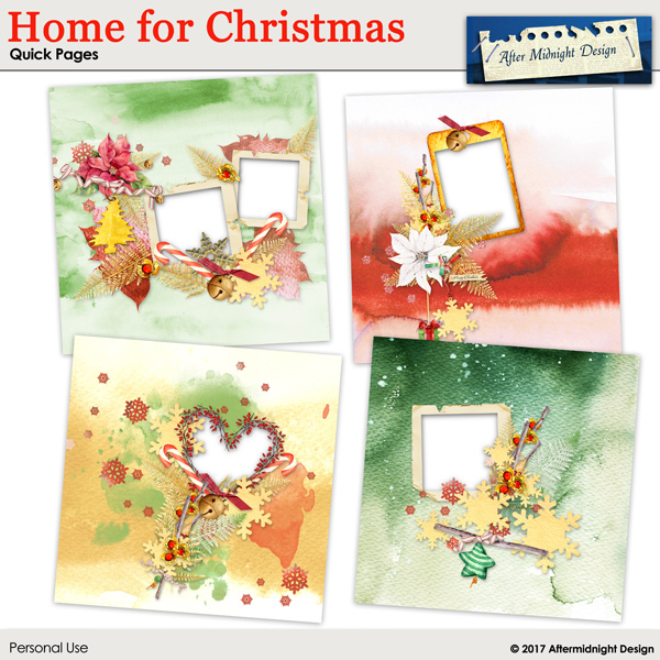 Home for Christmas Templates Quick pages by Aftermidnight Design