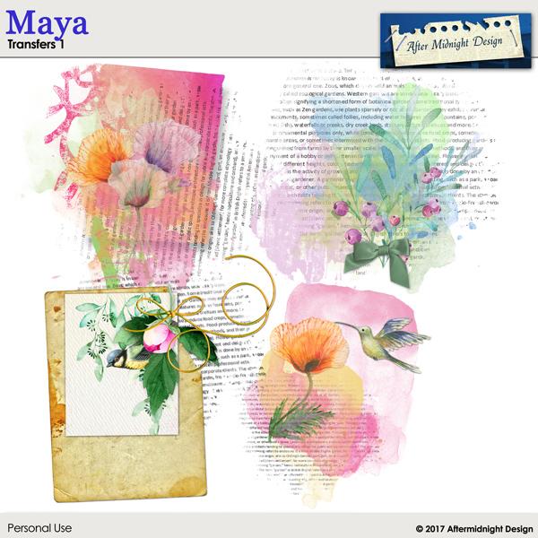 Maya Transfers 1 by Aftermidnight Design