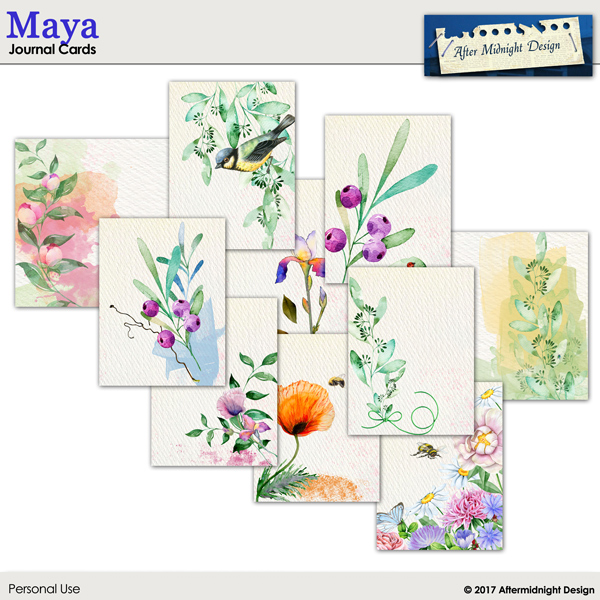 Maya Journal Cards by Aftermidnight Design