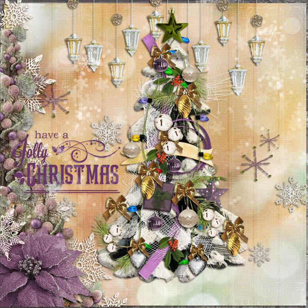 Snickerdoodle Designs Kit, Deck the Halls ,Layout by Anita