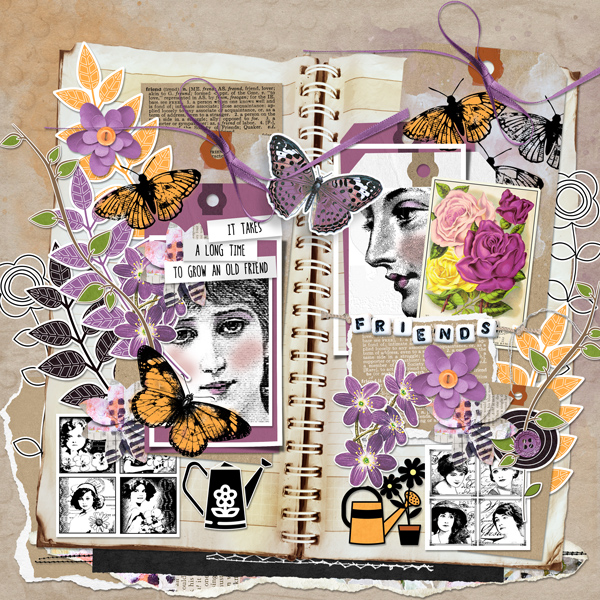 Friendship Garden by Vicki Robinson sample page 4 by Beth