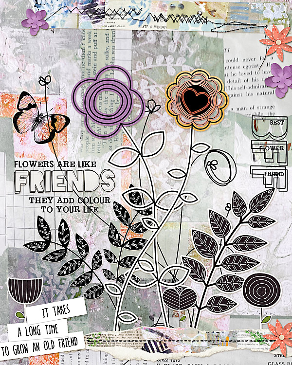 Friendship Garden by Vicki Robinson sample page by Madi