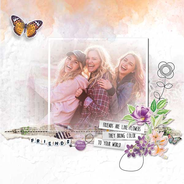 Friendship Garden by Vicki Robinson sample page by Zanthia