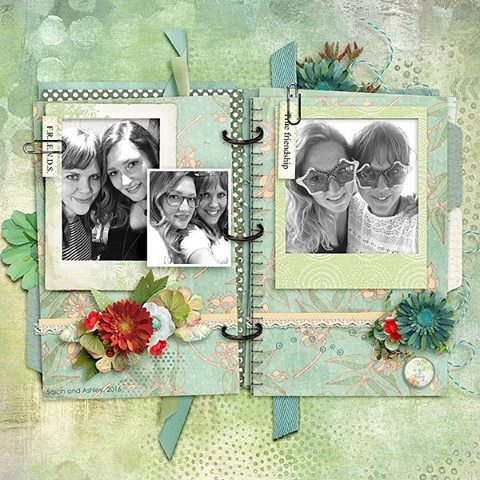 Layout using Snickerdoodle Designs Good Friends Kit
