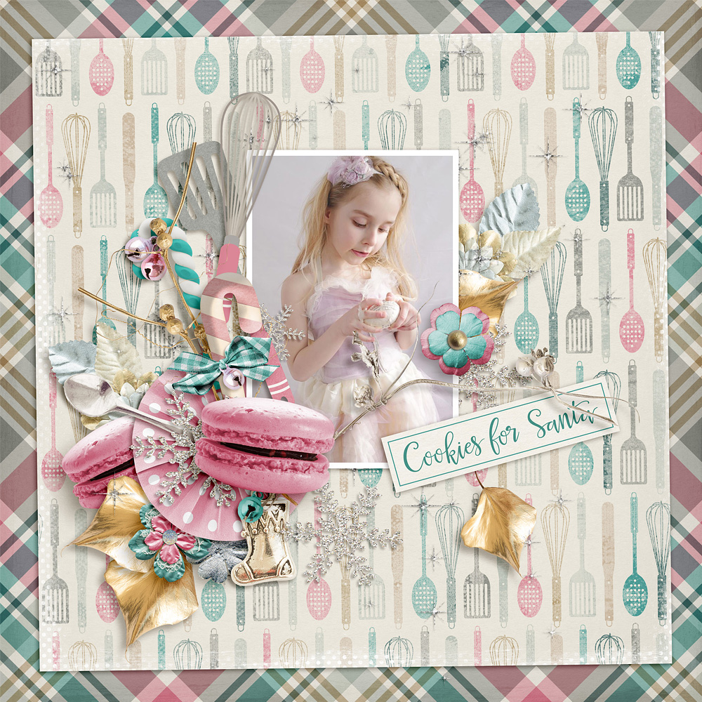 Baking For Christmas Digital Scrapbook Layout by Henrie