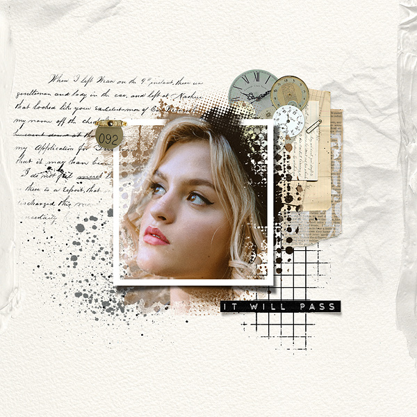Tissue Texture Bits by Vicki Robinson Layout by Gina