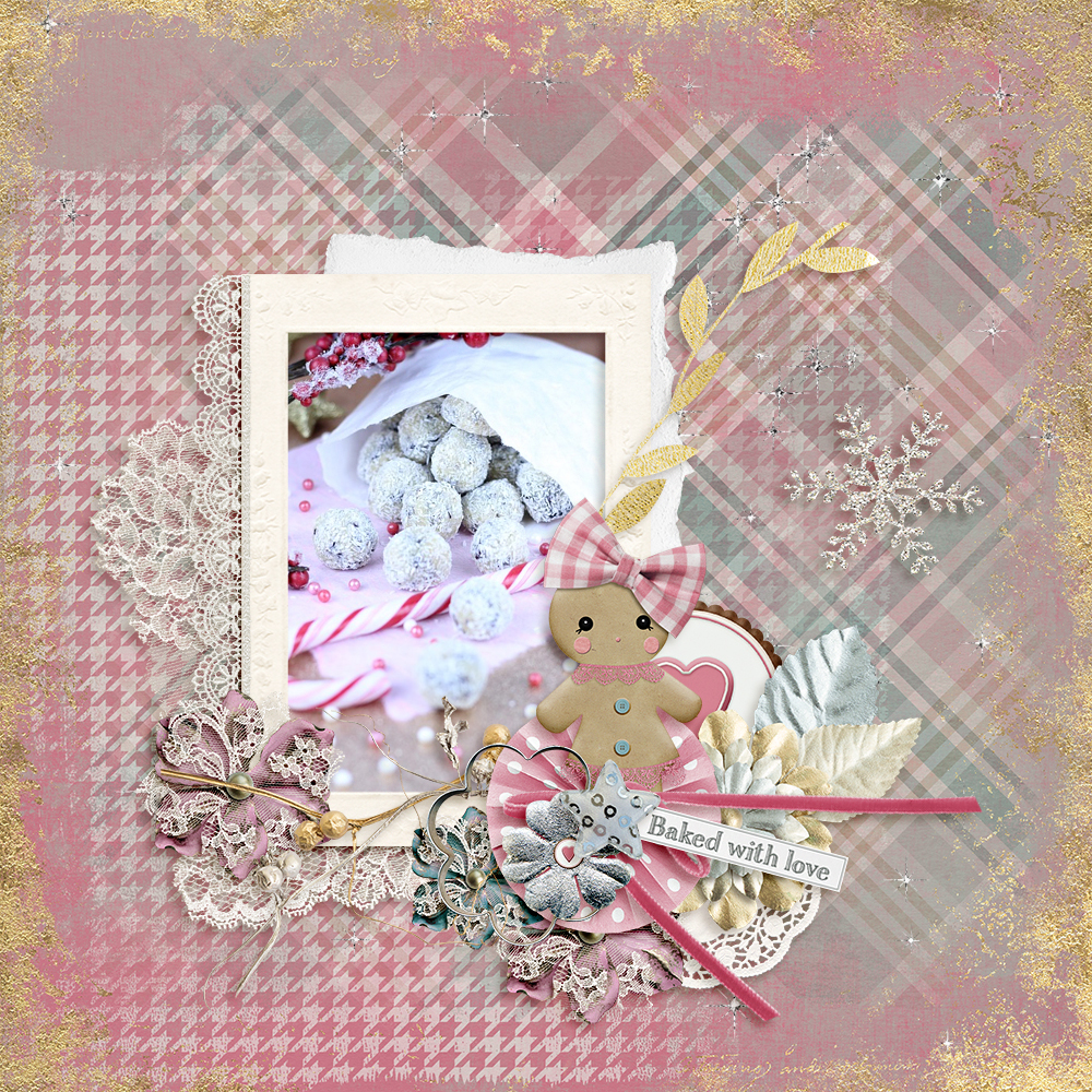 Baking For Christmas Digital Scrapbook Layout by Kay