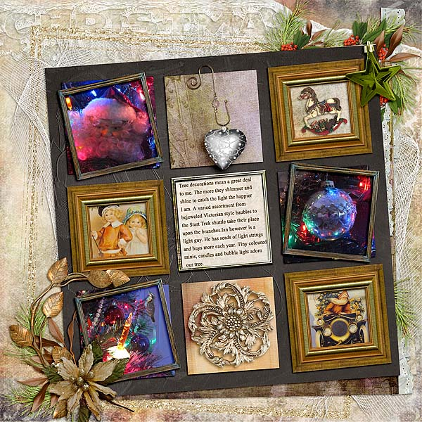 Snickerdoodle Designs Kit, Deck the Halls ,Layout by Kythe