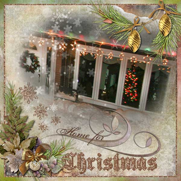 Snickerdoodle Designs Kit, Deck the Halls ,Layout by Lella