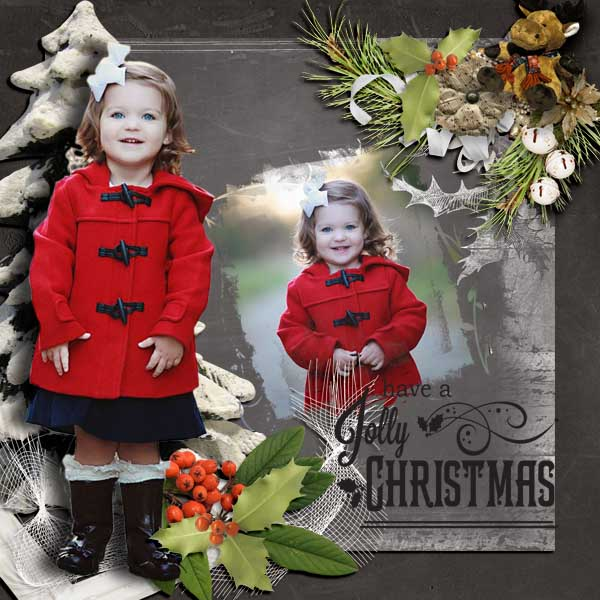 Snickerdoodle Designs Kit, Deck the Halls ,Layout by Linda