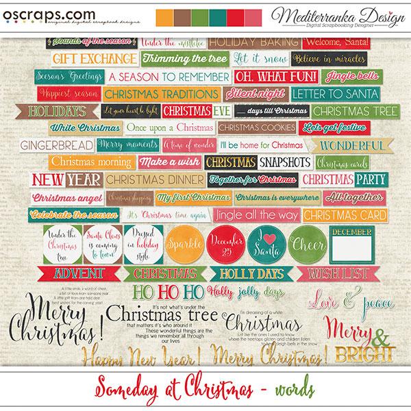 Oscraps.com Digital Scrapbook Store | Scrapbooking | Art :: All New :: Someday at Christmas (Words)