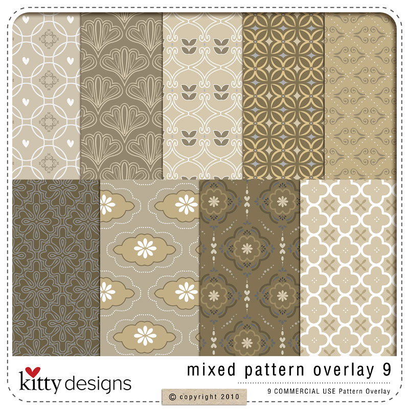 Shop by designer kitty designs mixed for Pattern overlay