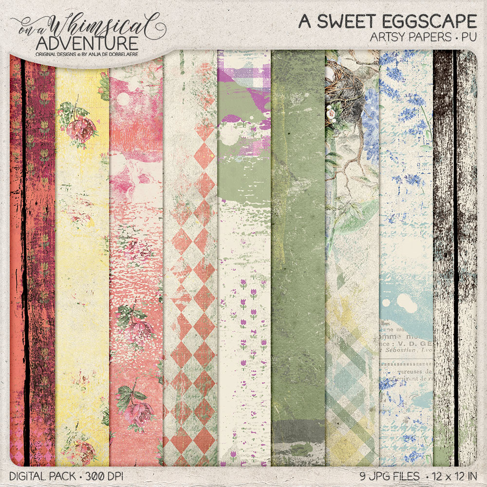 A Sweet Eggscape Artsy Papers by On A Whimsical Adventure