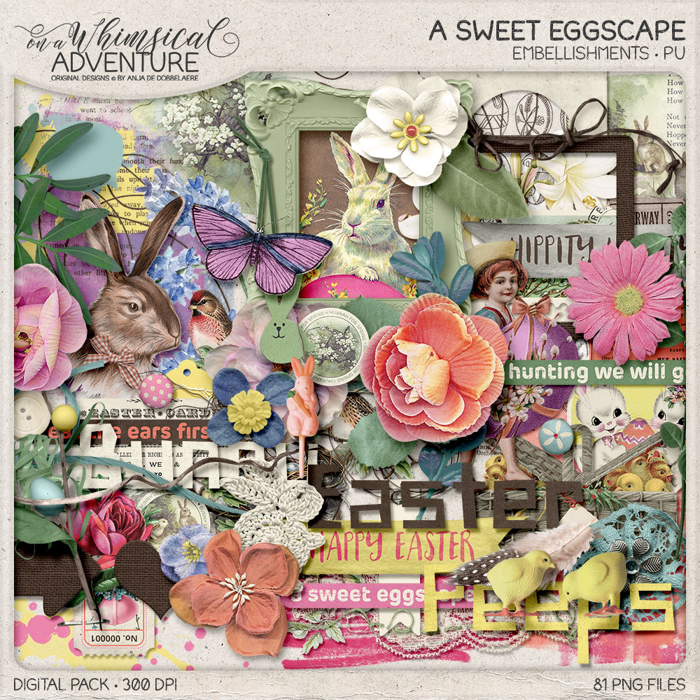 A Sweet Eggscape Embellishments by On A Whimsical Adventure