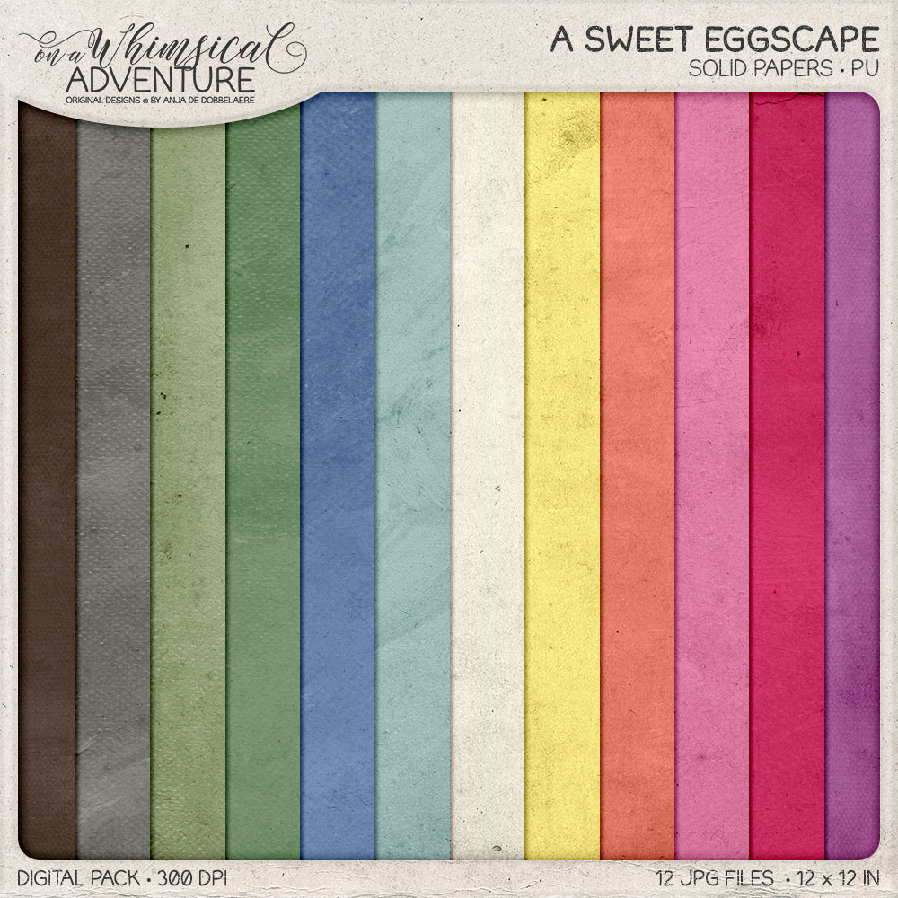 A Sweet Eggscape Solid Papers by On A Whimsical Adventure