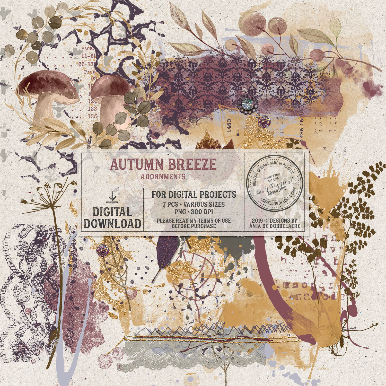 Autumn Breeze Transfers by On A Whimsical Adventure
