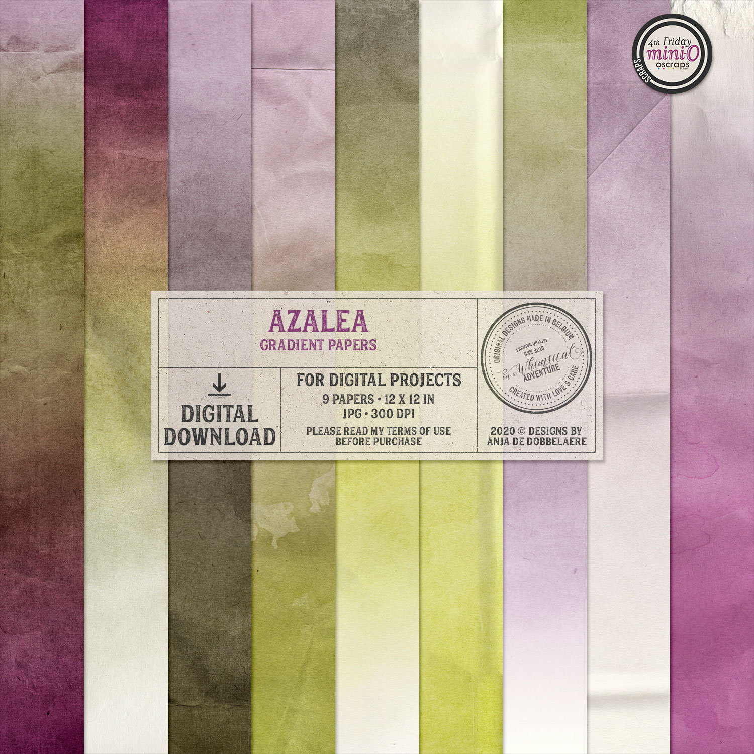 Azalea Gradient Papers by On A Whimsical Adventure