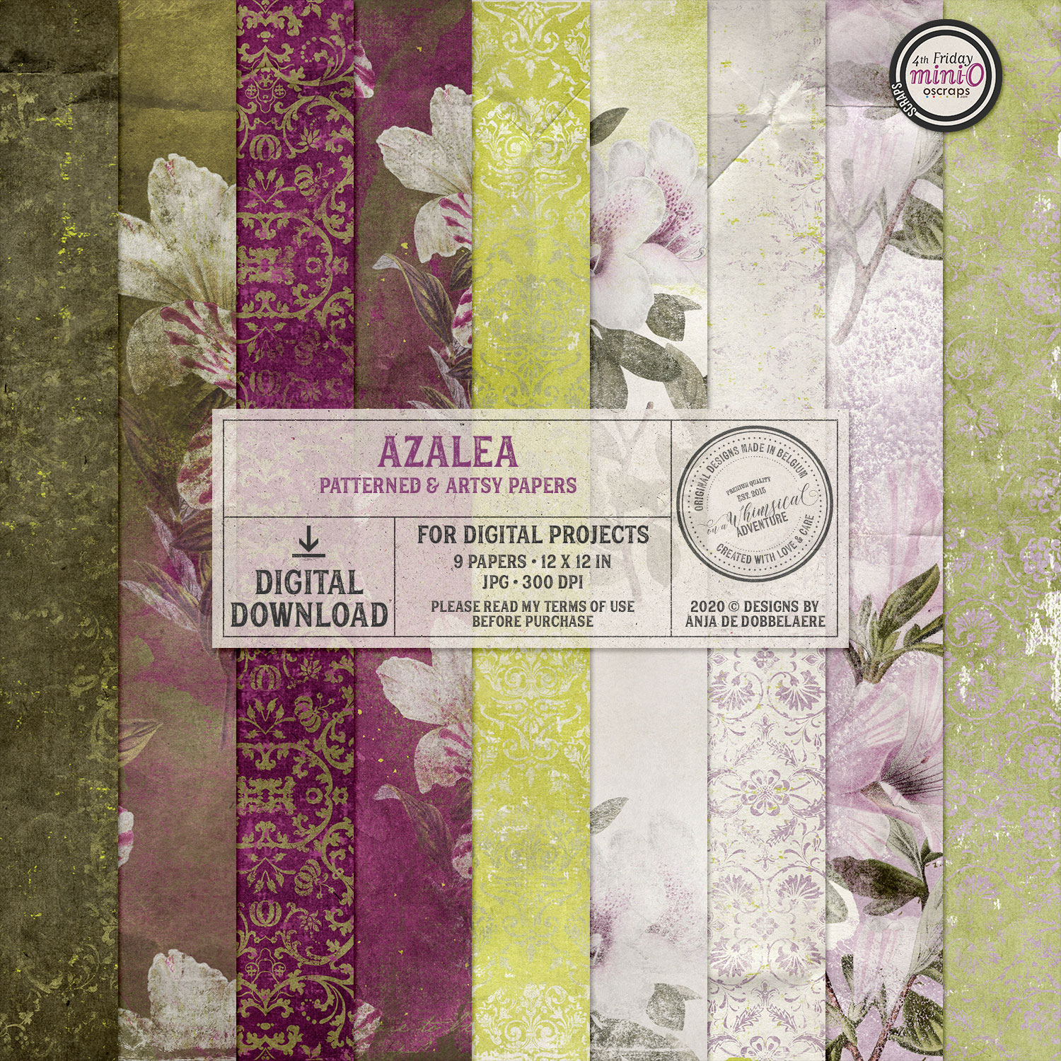 Azalea Patterned & Artsy Papers by On A Whimsical Adventure