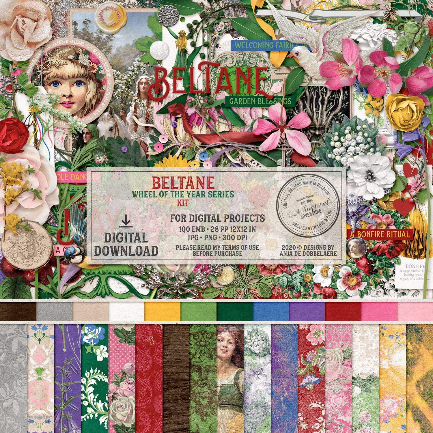 Wheel Of The Year Beltane Kit by On A Whimsical Adventure