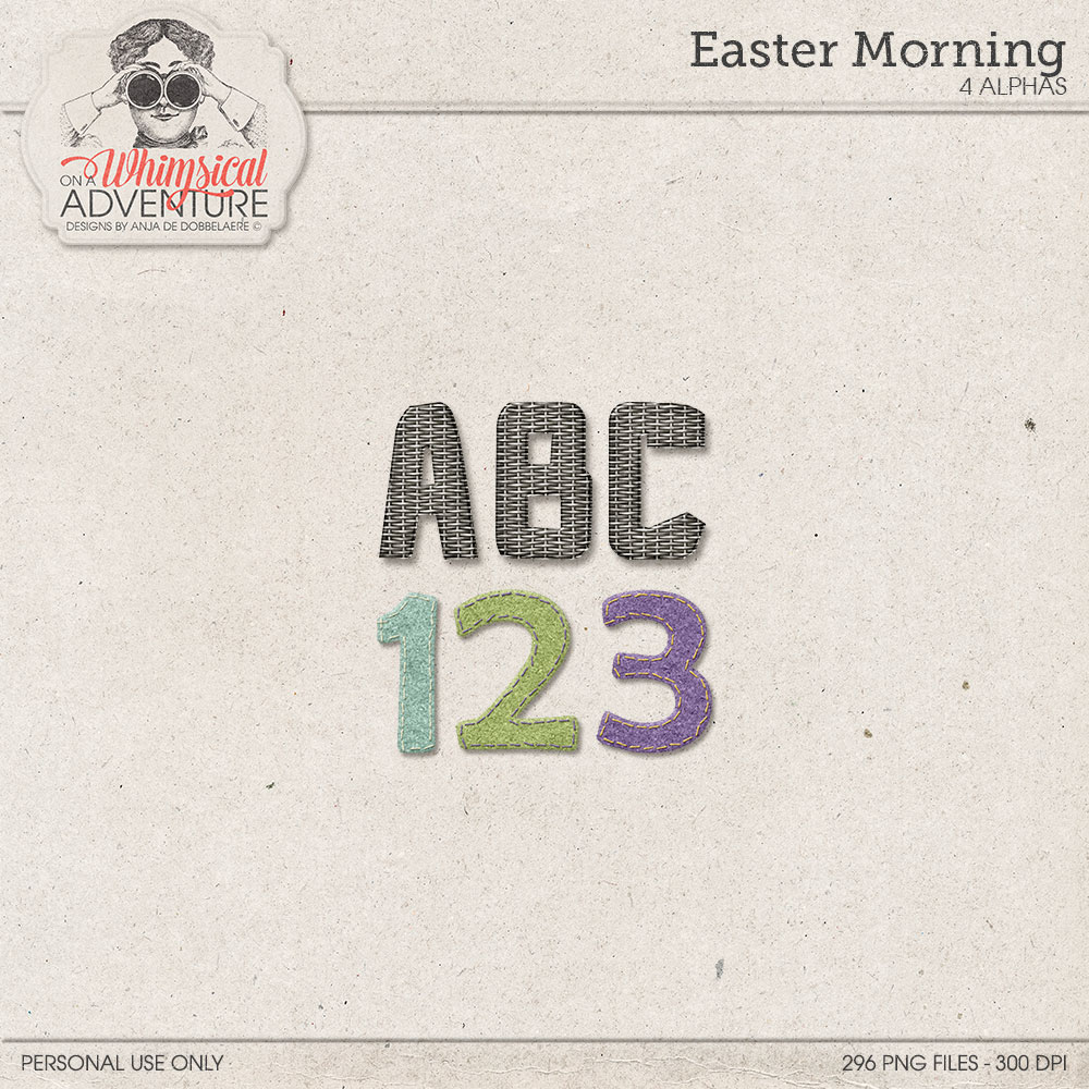 Easter Morning Alpha by On A Whimsical Adventure