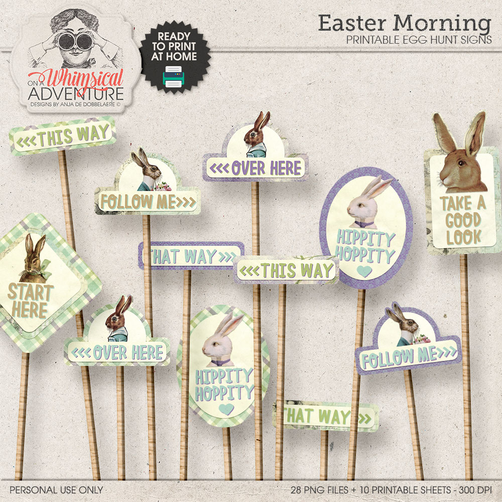 Easter Morning Egg Hunt Signs by On A Whimsical Adventure