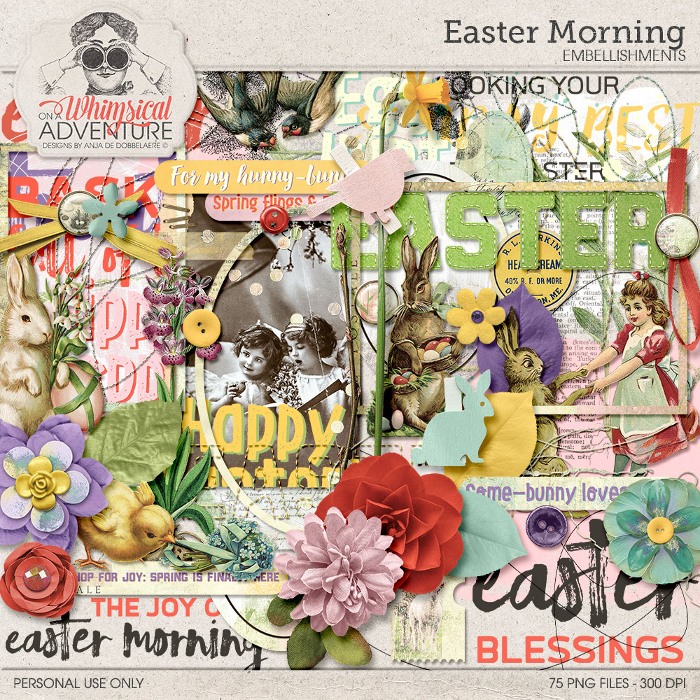 Easter Morning Embellishments by On A Whimsical Adventure