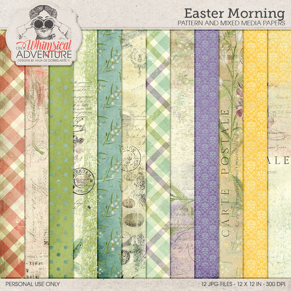 Easter Morning Patterns by On A Whimsical Adventure