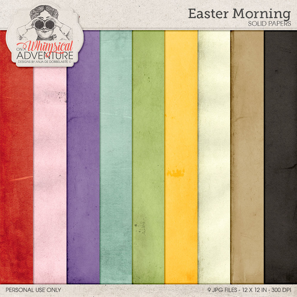 Easter Morning Solids by On A Whimsical Adventure