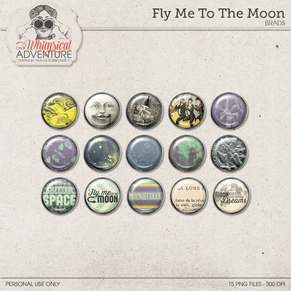 Fly Me To The Moon Brads by On A Whimsical Adventure