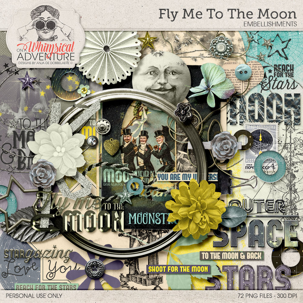 Fly Me To The Moon Elements by On A Whimsical Adventure