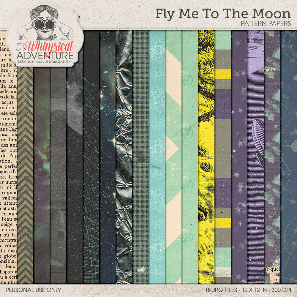 Fly Me To The Moon Patterns by On A Whimsical Adventure