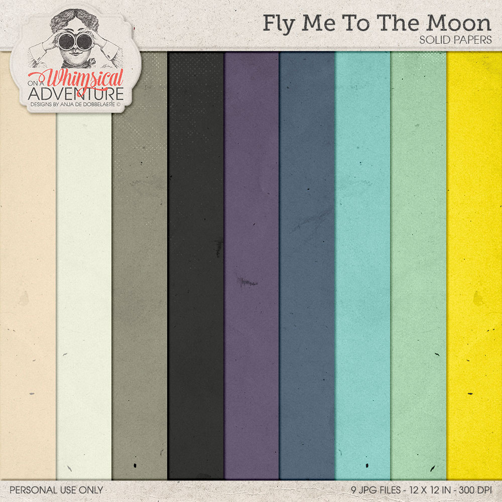 Fly Me To The Moon Solids by On A Whimsical Adventure