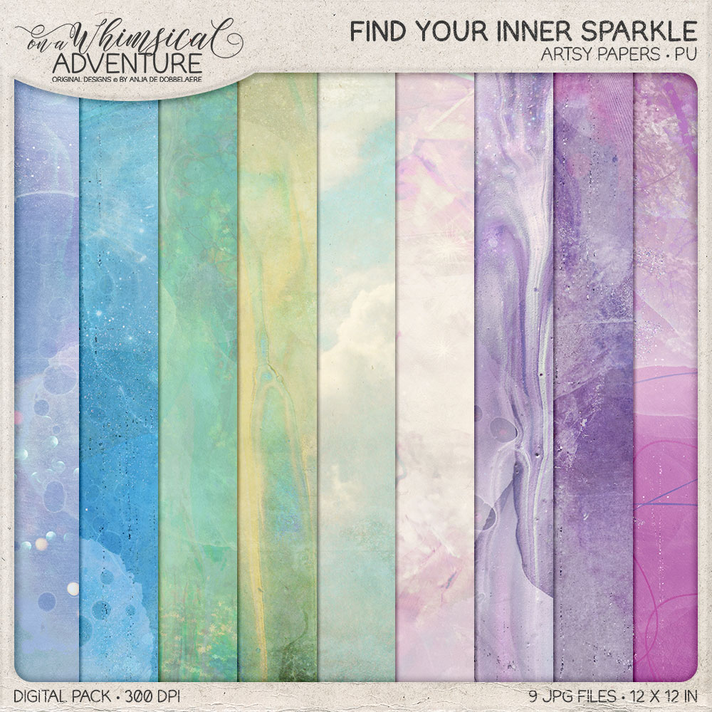 Find Your Inner Sparkle Artsy Papers by On A Whimsical Adventure